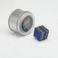manyetik küp oyuncak toptan satış-2 adet Üreticileri doğrudan satış 5mm 216 kova topları dekompresyon sihirli küp çocuk zeka oyuncakları manyetik top bir yerine