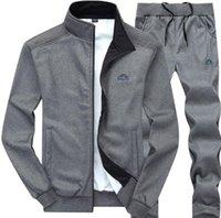 conjunto de pantalones al por mayor-Para hombre Otoño Chándales Chaquetas deportivas Pantalones Pantalones 2pcs Conjuntos de ropa Trajes de diseñador