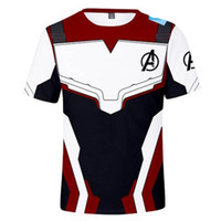 ingrosso camicie uomo in ferro-Avengers 4 Endgame maglietta Cosplay Quantum Realm T-Shirt Uomo Donna Supereroe Iron man Thanos 3D Stampato Casual Tops Tees