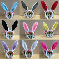 Wholesale women hair accessories for sale - Women Easter Rabbit Ears Headband Lovely Plush Fluffy Party Girls Headwear Cosplay Props Hair Accessory Party Favor Halloween QQA143