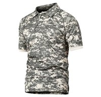 ingrosso camicie tattiche ad essiccazione rapida-Refire Gear Polo tattica militare Uomo Estate Us Army Camouflage Polo Uomo traspirante Quick Drying Arm Pocket Polo