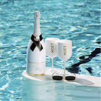 Wholesale gift for wedding wine resale online - Moet Champagne Coupes Plastic Flutes Glasses Wine Glasses Drinkware Cups White Moet Acrylic Champagne Glasses For Party Supply Wedding Gifts