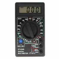 voltios de plastico al por mayor-DT-830B Auto Range Test Lead Digital Mini Ohmmeter Handheld Manual Volt Tester Práctico LCD Voltímetro de plástico Multímetro