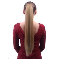 kanca saç at kuyruğu saç tokaları toptan satış-Çok Renkli Uzun Düz Pençe Klip Saç Uzatma ile Sentetik At Kuyruğu Ucuz Styling Pony Tail Postiş