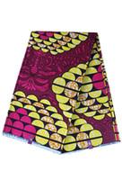 ingrosso sacchetti di tessuto africano-2019 Tessuto in puro cotone africano Batik Double Size stampa Dashiki Wax panno per abiti abiti borse 20 colori
