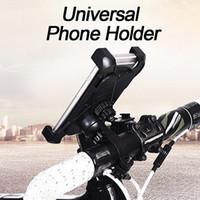 manillares clip de moto al por mayor-Soporte de teléfono de bicicleta de motocicleta para iPhone Soporte de teléfono celular móvil universal de Samsung Soporte de clip de manillar de bicicleta de motocicleta Soporte de montaje GPS