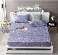 Wholesale purple bedding king size for sale - Cartoon flamin Fitted sheet case Fitted Sheet Mattress Cover Bedding Bed Sheets With Elastic Band Twin Full Queen Size
