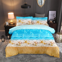 Wholesale 3d bedding set beaches for sale - Group buy BEST WENSD D Bedding Set Beach Ocean Scenery Print Duvet cover set lifelike bedclothes with pillowcase bed home Textiles