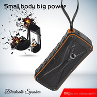 Wholesale mp3 player double speaker resale online - S610 Bluetooth Mini speaker Wireless subwoofer MP3 Player with Double horn IP66 waterproof Outdoor portable Riding Wireless speakers