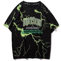 ingrosso camicie casuali di estate di estate-2019 T Shirt Mens Hip Hop Dark Light Tshirt Streetwear Estate Cotone Harajuku T-Shirt Manica corta Casual Tops Tees