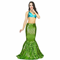 Wholesale beauty mermaid resale online - Adult Mermaid Costume Women s Swimming and Sandy Beach Clothing Sexy Beauty Dress Mermaid Tail Halloween Cosplay Costumes