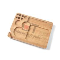 ingrosso strumento di fumo di legno-Vassoio in legno RAW Vassoio in legno Vassoi Rotolo a mano Carta a rotoli Erbe Tabacco Piastra Accessori per fumatori Strumenti per sigarette