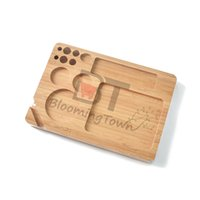 Wholesale wooden smoke tool resale online - Wooden Rolling Tray RAW Wood Roll Trays Hand Roller Rolling paper Herb Tobacco Plate Smoking Accessories Cigarettes tools