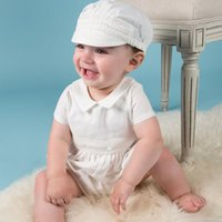 Wholesale christening clothes for babies resale online - 2019 Year Birthday Baby Boy Clothes For Baptism Baby Boy Christening Gown Newborn Toddler Infant Bebes Clothes J190524