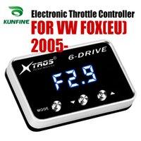 raposa eletrônica venda por atacado-Carro eletrônico do acelerador controlador Corrida Accelerator impulsionador potente para VW FOX (UE) 2005 2006 2007 2008 2009 2010 Ajuste peças acessórias