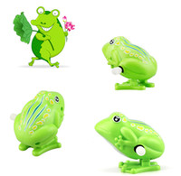 Wholesale wind up jumping toy frog for sale - Group buy Kids Wind Up Clockwork Toy Mini Cute Jumping Frog Baby Toys Pull Back Wind Up Toys C5859