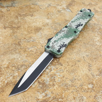 Wholesale knifes camo resale online - PD CAMO A161 hellhound double action tactical self defense pocket folding edc knife camping knife hunting knives xmas gift C211TI