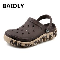 eva garden clogs оптовых-Mens Mules Clogs Eva Beach Garden Sandals Man Slippers Outdoor Clog Slipper Cool Fashion Summer Men's Sandals Casual Pantufas