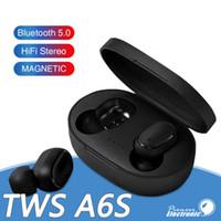 micrófono auricular para iphone al por mayor-Auricular Bluetooth Auriculares TWS A6S Auriculares inalámbricos Bluetooth 5.0 Auriculares Bluetooth impermeables Life con micrófono para todos los Goophone