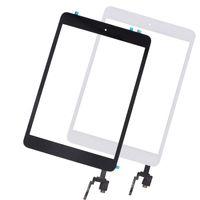 digitalizador flex cable ipad mini al por mayor-10pcs táctil Panel reemplazo para el iPad Mini 3 pantalla táctil digitalizador Asamblea dirigen el botón Inicio Flex Cable + Conector IC