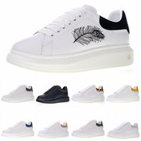 Wholesale mens shoes online - Brand New Queen Lace Up Low Casual Shoes Mens Womens Designer Sneakers Low Cut Leather Flat Sports Shoes Size