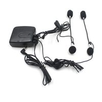 Wholesale motorbike headset for sale - Group buy 40Pcs Motorbike Motorcycle Helmet Audio Intercom Headset With Audio Input Plug IPOD MP3