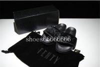Wholesale lighting fenty shoes resale online - New Arrival Fenty Rihanna Shoes Women Slippers Brand Sandals Girls Pink Black White Grey Fur Slides High Quality designer sandals fdzhlzj