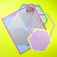 arte de papel perforado artesanal al por mayor-Ampliación de troqueles de corte de 10 piezas cosido Hexágono Álbum de recortes de metal arte de DIY de la plantilla