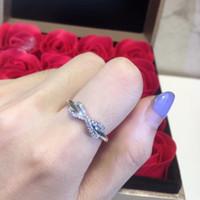 elmas sonsuzluğu toptan satış-cz zirkon elmas yüzük yeni moda nişan düğün takı bague femme açacağı Sıcak satış 925 ayar gümüş sonsuzluk sembolü yüzük