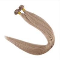 extensions de cheveux auburn achat en gros de-100% de vrais cheveux naturels Remy U Tip Extensions de cheveux Pure Color 50g par paquet Extensions de cheveux pré collés