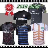 équipement pour pieds achat en gros de-2019 2020 Paris Survetement de football maillot de foot maillots de foot19 20 sur cap olympique de thauvin survêtement