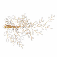 Wholesale fashion hair fork for sale - Fashion Bridal Barrettes Wedding Hair Clips Jewelry Accessories Clear Crystal Women Hair Ornaments Hair Fork JCF022
