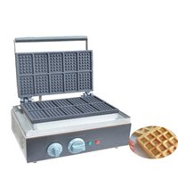 Wholesale industrial pieces online - Electric head pieces Waffle Maker Machine Industrial Commercial Square Waffle Making Machines For Sale