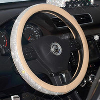 Full Drill Steering Wheel Cover Car Studded With Drill Direction, Set Of Four Seasons Universal Full Handle