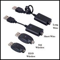 evod usb-kabel großhandel-E-Zigarette USB-Ladekabel Lang Kurz verkabelt Akku-Ladekabel 510 EGO EVOD Kabelloses USB-Ladekabel