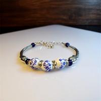 chinesische schmuckmarken großhandel-Keramik Armband chinesischen Promi-Stil Silber kleine Perle Fisch Frauen Handwort Mode Bettelarmband 2019 Liujun Marke Schmuck