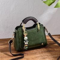 ayı marka çantası toptan satış-Küçük Kadınlar Için Ayı Omuz Casual Tote Çanta Ile Deri Çanta Kadın Lüks Tasarımcı Çanta Çanta Ünlü Marka 2019