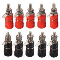 Wholesale socket bind resale online - 10pcs Plug Test Clip Banana Socket Electrical Adapter Binding Jack Wire Connectors JS B Terminal Block car