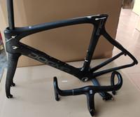 Wholesale 56cm bikes resale online - frame and handlebar black lava T1100 F10 carbon road frame carbon bicycle frame road bike carbon frameset K