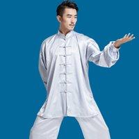 ropa wushu al por mayor-Chino tradicional Wushu uniforme de primavera verano artes marciales trajes de Kung Fu Taijiquan práctica rendimiento desgaste Tai Chi ropa