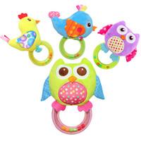 los mejores juguetes para 12 meses. al por mayor-Juguetes para bebés recién nacidos para niños Animal de dibujos animados Infant Toddler Rattle Plush Mobile Toy Niños Juguetes educativos al por mayor