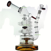 Wholesale mobius water pipes resale online - Huge Recycler Glass Bong oil rig quot bongs birdcage honeycomb Big water pipes bubbler Mobius Matrix sidecar heady quartz banger bowl
