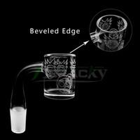 ingrosso modelli di chiodo-Nuovo modello di Beracky con bordo smussato Fondo opaco quarzo Banger 10mm 14mm 18mm Maschio Femmina 45/90 Chiodi al quarzo senza cupola per bong di vetro per acqua