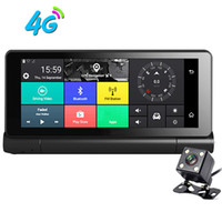 wifi objektiv großhandel-7 Zoll 1080P Android 5.0 4G 3G WIFI Auto DVR Bluetooth AVIN GPS-Navigation mit Doppelobjektiv-Camcorder-Armaturenbrett-Videorecorder