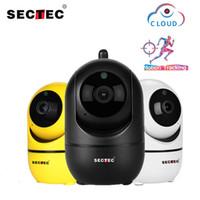 kam mp toptan satış-SECTEC 1080 P Bulut Kablosuz AI Wifi IP Kamera İnsan Ev Güvenlik Gözetim CCTV Akıllı Kamera Akıllı Otomatik Izleme