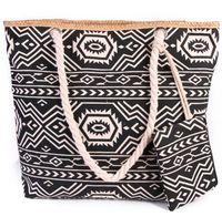 nuevos bolsos coreanos al por mayor-20pcs nuevos bolsos de playa de impresión colorida bolsa de lona femenina bolsa de hombro coreano salvaje de gran capacidad simples totes salvajes con monederos