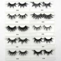 3d kirpik gözlüğü toptan satış-Ücretsiz DHL Visofree 25mm Kirpikler Dramatik Vizon Kirpikler Yumuşak Uzun 3D Vizon Kirpikler Çapraz Tam Hacimli Göz Lashes Makyaj