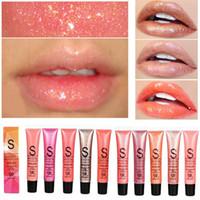 Wholesale professional lipsticks for sale - Group buy Professional Brand Lip Make Up Diamond Glitter Waterproof Lip gloss Long Lasting Moisturizer Shimmer Nude Lipstick Liquid Makeup