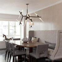 tepe aydınlatması toptan satış-Yaratıcı Şube Sanat Roll Hill Agnes Kolye Işık lamba Modern Şube Agnes Işık Oturma Odası Restoran Sanat Dekorasyon Lambaları
