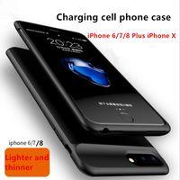 bateria de bateria venda por atacado-Moda escudo do telefone móvel caso carregador de energia externa capa de carregamento carregador para iphone6 / 7/8 / iphone plus / x / xs / xs max / xr mochila de carregamento